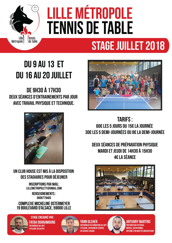 Stage à Lille du 9 au 13 juillet et du 16 au 20 juillet  Afiich10