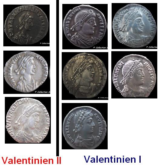 Valentinien I et II  Bustes10