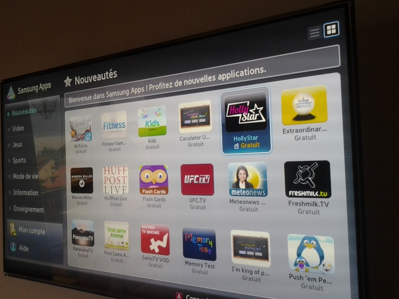 Hollystar disponible sur SmartTV 20120910