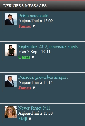Avatar du membre ayant posté en dernier sur l'index du forum Avatar10
