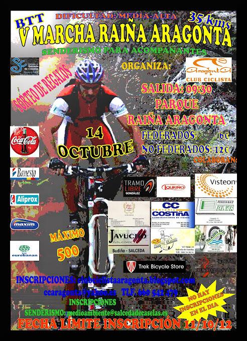 Ruta del Domingo 14/10/´12 (V Marcha Raiña Aragonta) Cartel15