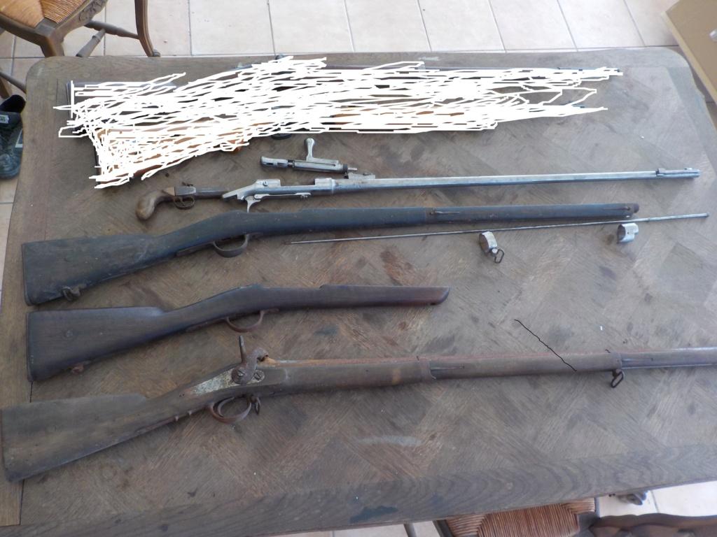 1840 et 1866 marine + pistolet a balles forcées Restau10