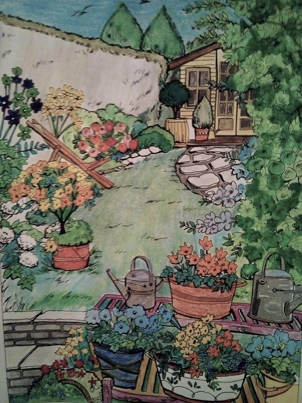 coloriage anti-stress pour adulte - Page 8 Jardin11