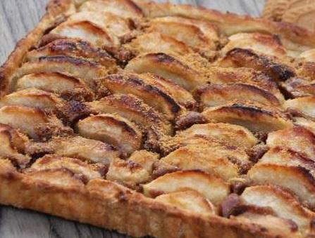 Tarte aux pommes-mascarpone et spéculos Tartep10