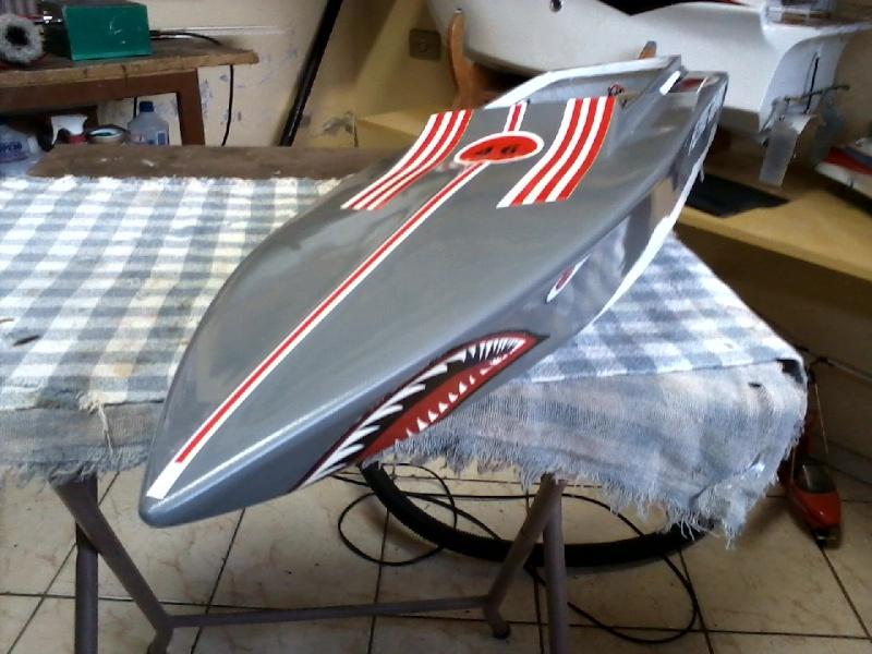 Flyng Shark (lancha de corrida) construtor Elcio. P21-0915