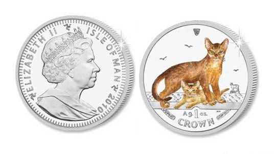Серия монет, посвященная котам Abyssi10