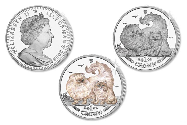 Серия монет, посвященная котам Cat20011