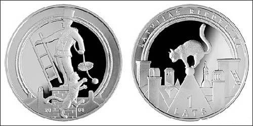Серия монет, посвященная котам Happy210