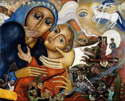 Ma mère se révèle comme la femme revêtue du soleil,comme la Mère de Miséricorde et de Compassion. Apresj10