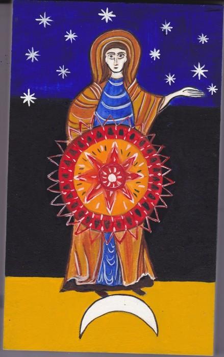 Ma mère se révèle comme la femme revêtue du soleil,comme la Mère de Miséricorde et de Compassion. Armaar10