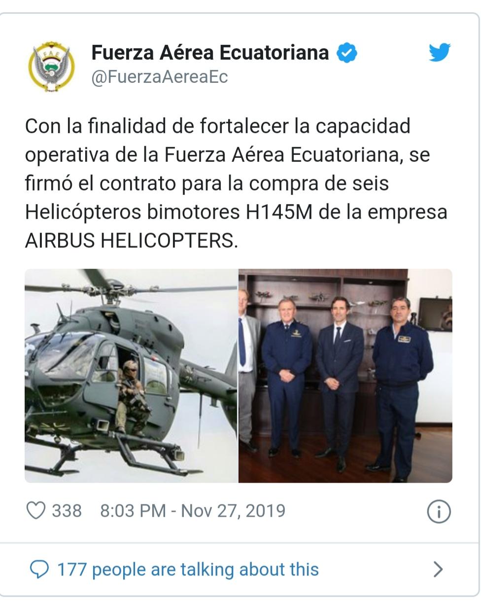 Armée Equatorienne/Fuerzas Armadas del Ecuador - Page 6 20191118