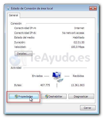 Modificar los servidores DNS de una conexión Cambia13