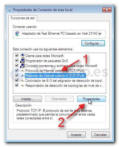Modificar los servidores DNS de una conexión Cambia14