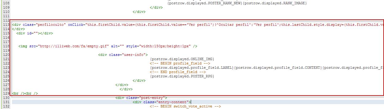 Mostrar/Ocultar perfil de usuarios en los posts  Temp310
