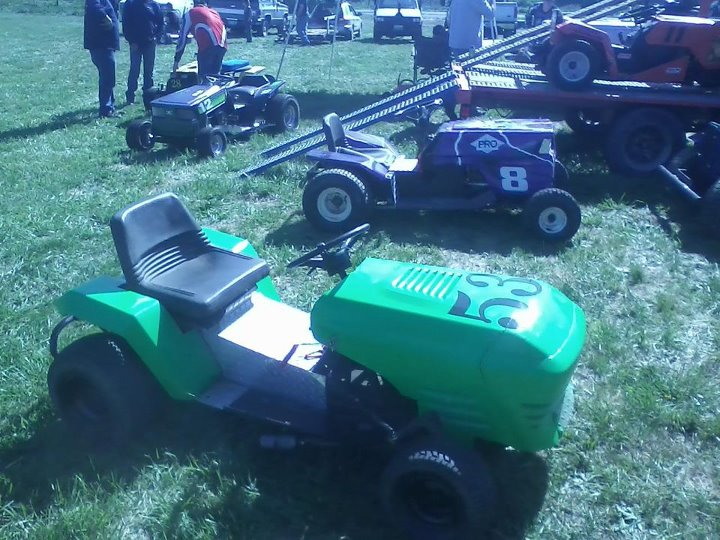 my lime green raceing lawn mowers  56000310