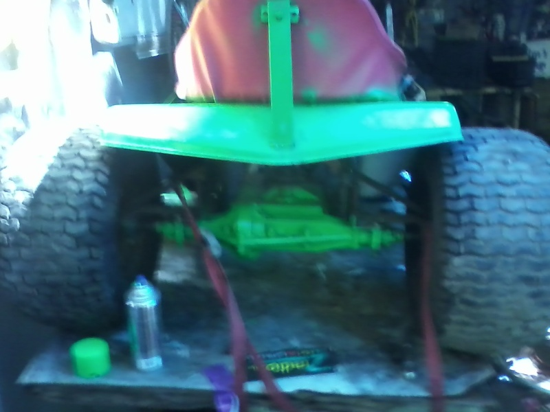 my lime green raceing lawn mowers  Green_15