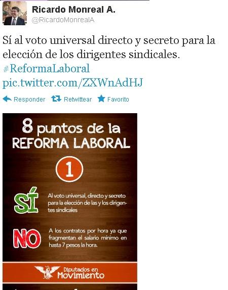 Sí al voto universal directo y secreto para la elección de los dirigentes sindicales.  Dipenm10
