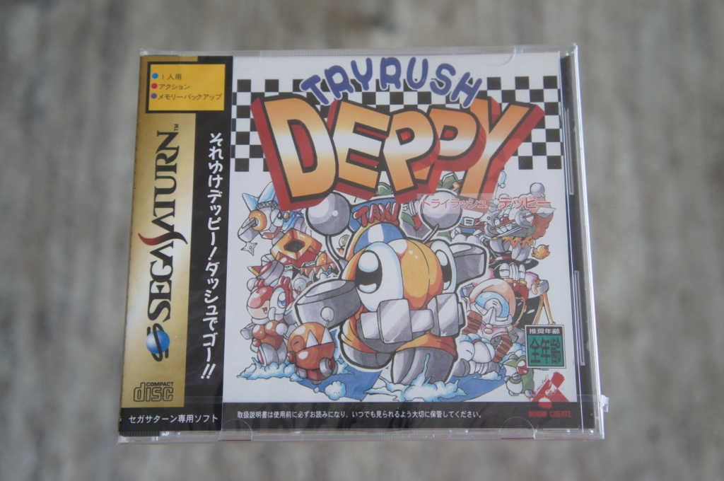 Vends Try rush Deppy et Elevator action Return NEUFS brand new sega Saturn. JAP Dsc05738