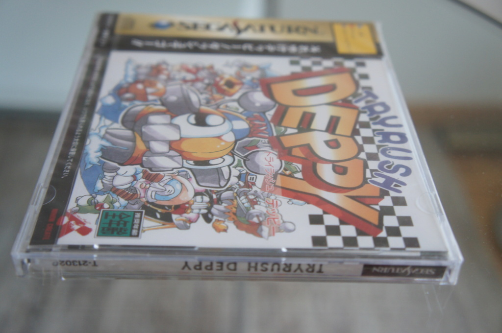 Vends Try rush Deppy et Elevator action Return NEUFS brand new sega Saturn. JAP Dsc05742