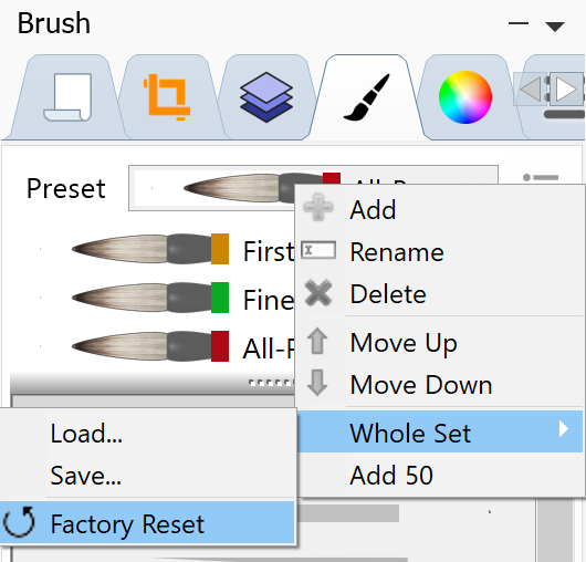 after the latest updates brush does not work 15334410