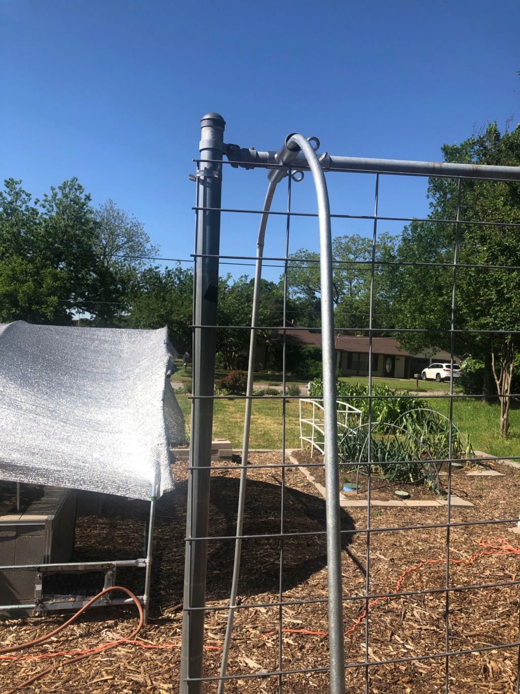 The SFG Journey- preparing Hoops on SFG Beds for future shade cloth 5_anot10