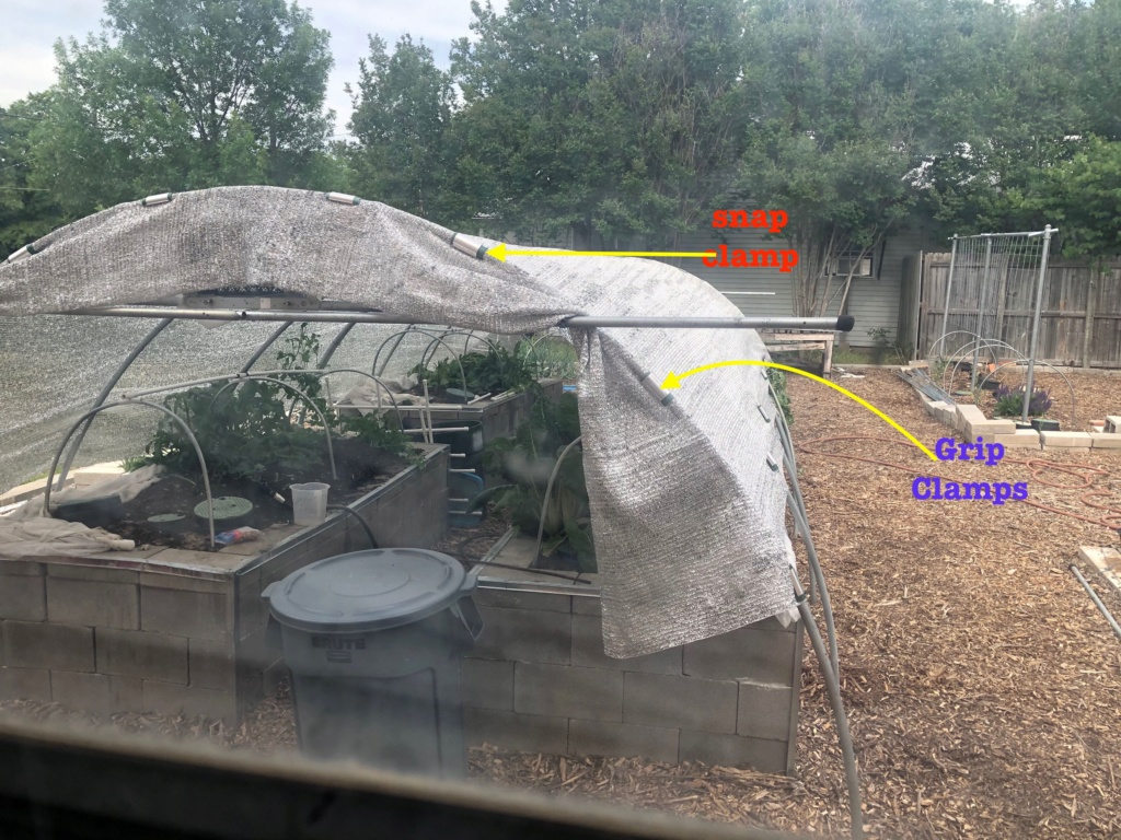 The SFG Journey- preparing Hoops on SFG Beds for future shade cloth Shade_12