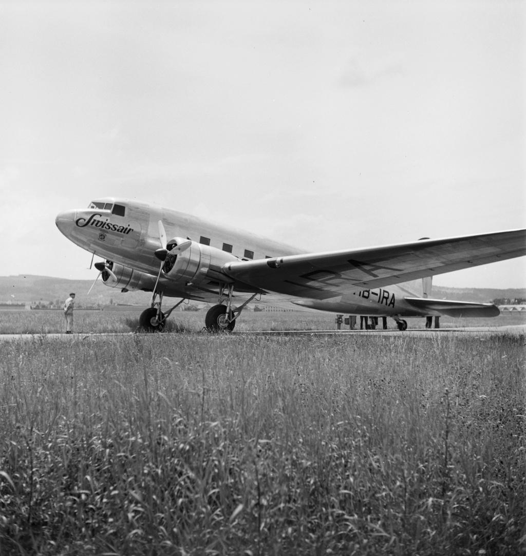 """[CONCOURS """"Ca brille""""] DC-3 Swissair 1937 - ITALERI- 1/72 Lbs_sr29"""
