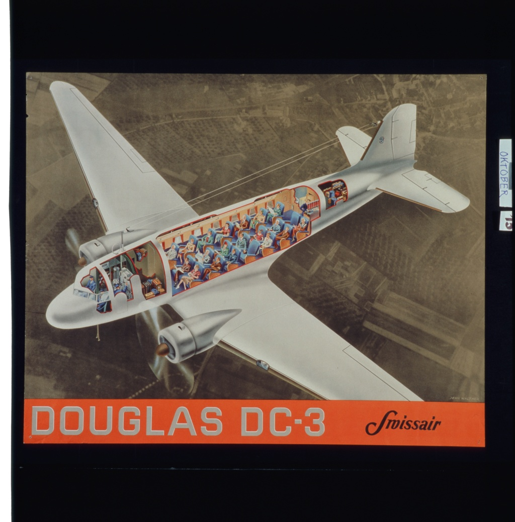 """[CONCOURS """"Ca brille""""] DC-3 Swissair 1937 - ITALERI- 1/72 Lbs_sr36"""