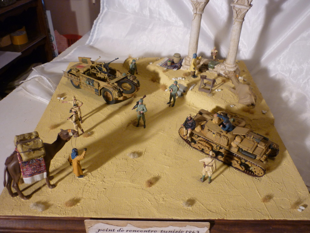 Tunisie 1943: Semovente M40 Tamiya + Camionetta AS 42 Sahariana Italeri + personnages et dromadaires Verlinden 1/35 - Page 10 P1090110