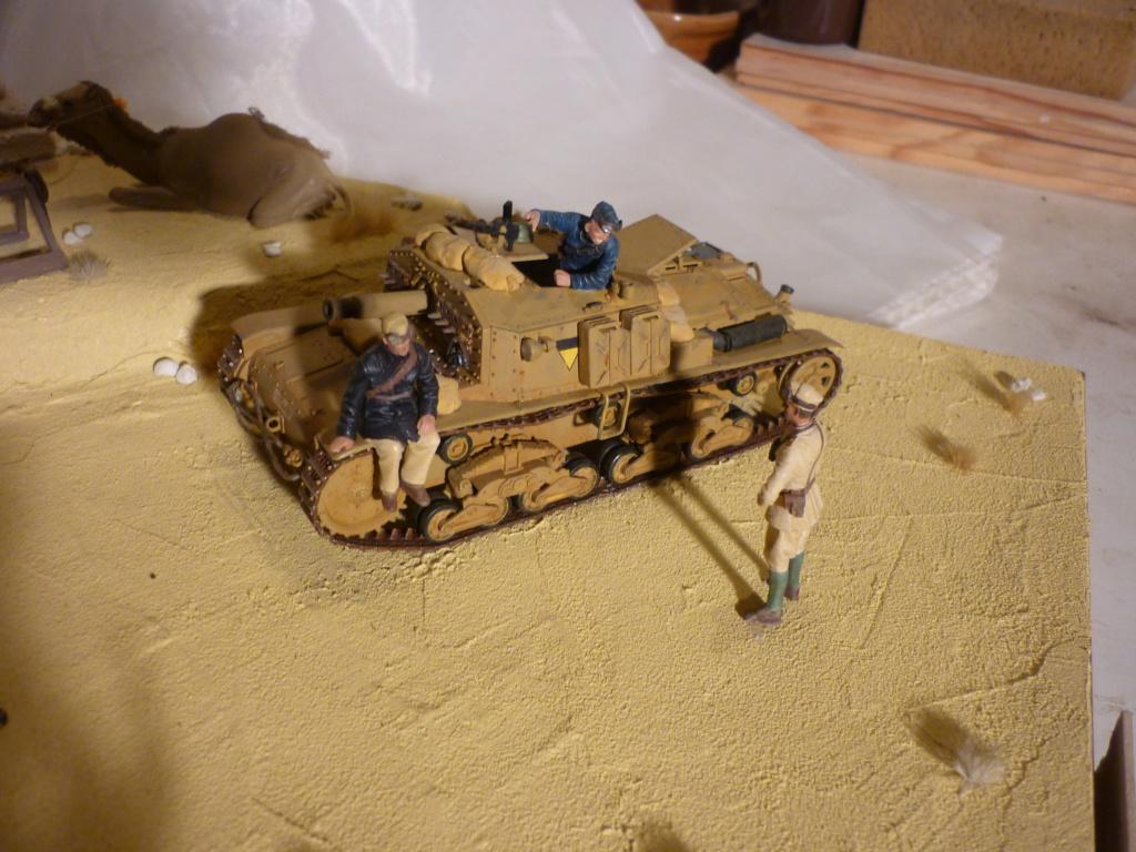 Tunisie 1943: Semovente M40 Tamiya + Camionetta AS 42 Sahariana Italeri + personnages et dromadaires Verlinden 1/35 - Page 10 P1090111