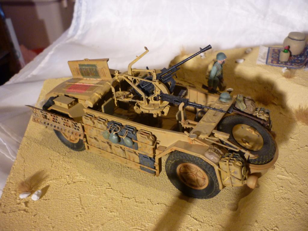 Tunisie 1943: Semovente M40 Tamiya + Camionetta AS 42 Sahariana Italeri + personnages et dromadaires Verlinden 1/35 - Page 10 P1090112