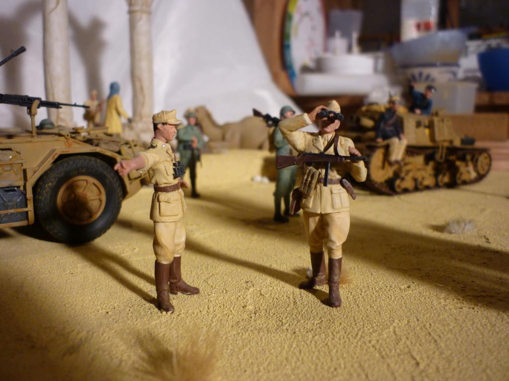 Tunisie 1943: Semovente M40 Tamiya + Camionetta AS 42 Sahariana Italeri + personnages et dromadaires Verlinden 1/35 - Page 10 P1090114