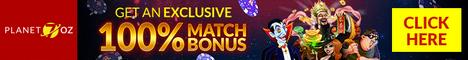 Planet7Oz Casino 25 Free Spins No Deposit Bonus 330%/BTC Bonus Planet10