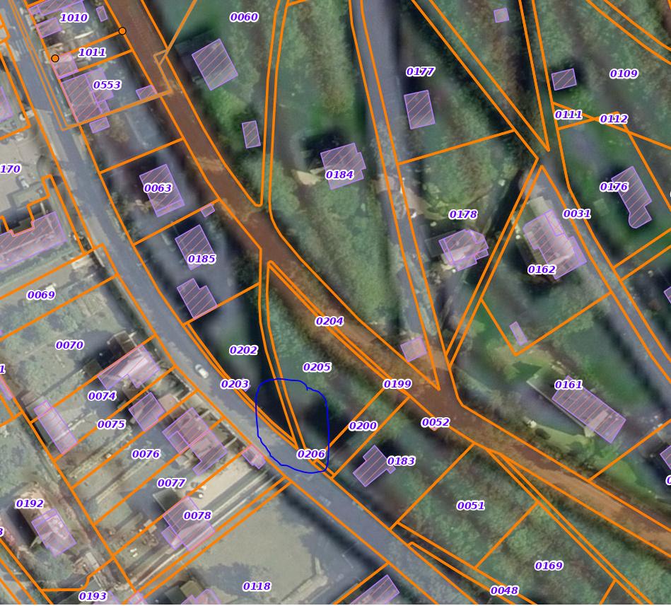 """""""fermeture"""" de sentiers publiques à Yport; d'après cadastre Sentie10"""