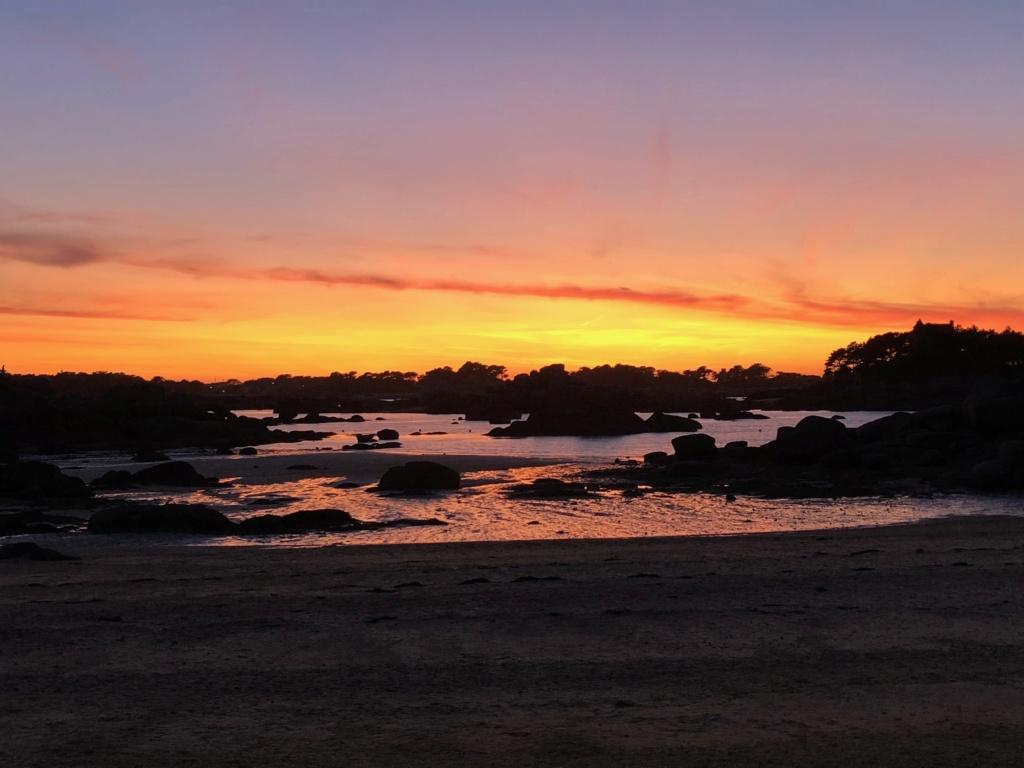 Coucher de soleil plage de St Guirec Ploumanch Img_1314