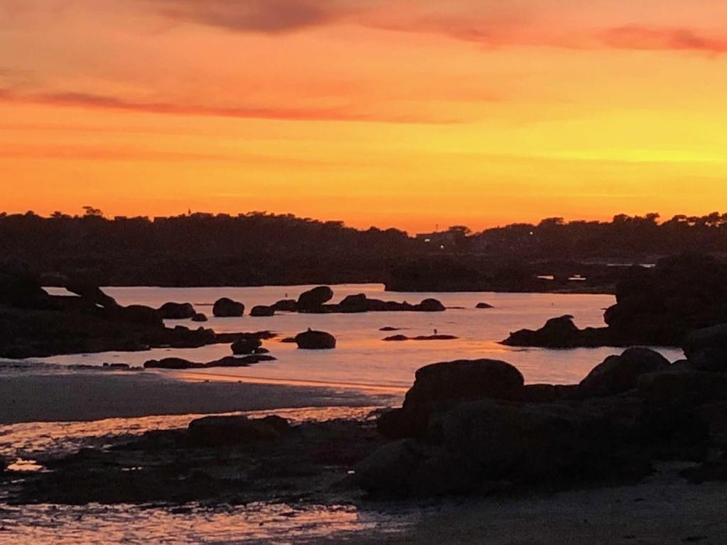 Coucher de soleil plage de St Guirec Ploumanch Img_1316