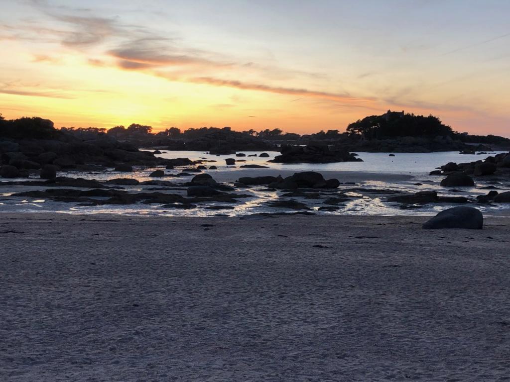 Coucher de soleil plage de St Guirec Ploumanch Img_1318