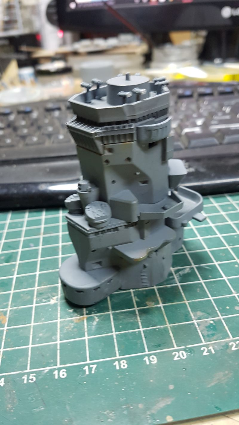 Baubericht JPN Schlachtschiff YAMATO gebaut von arrowsmodell 006_8010