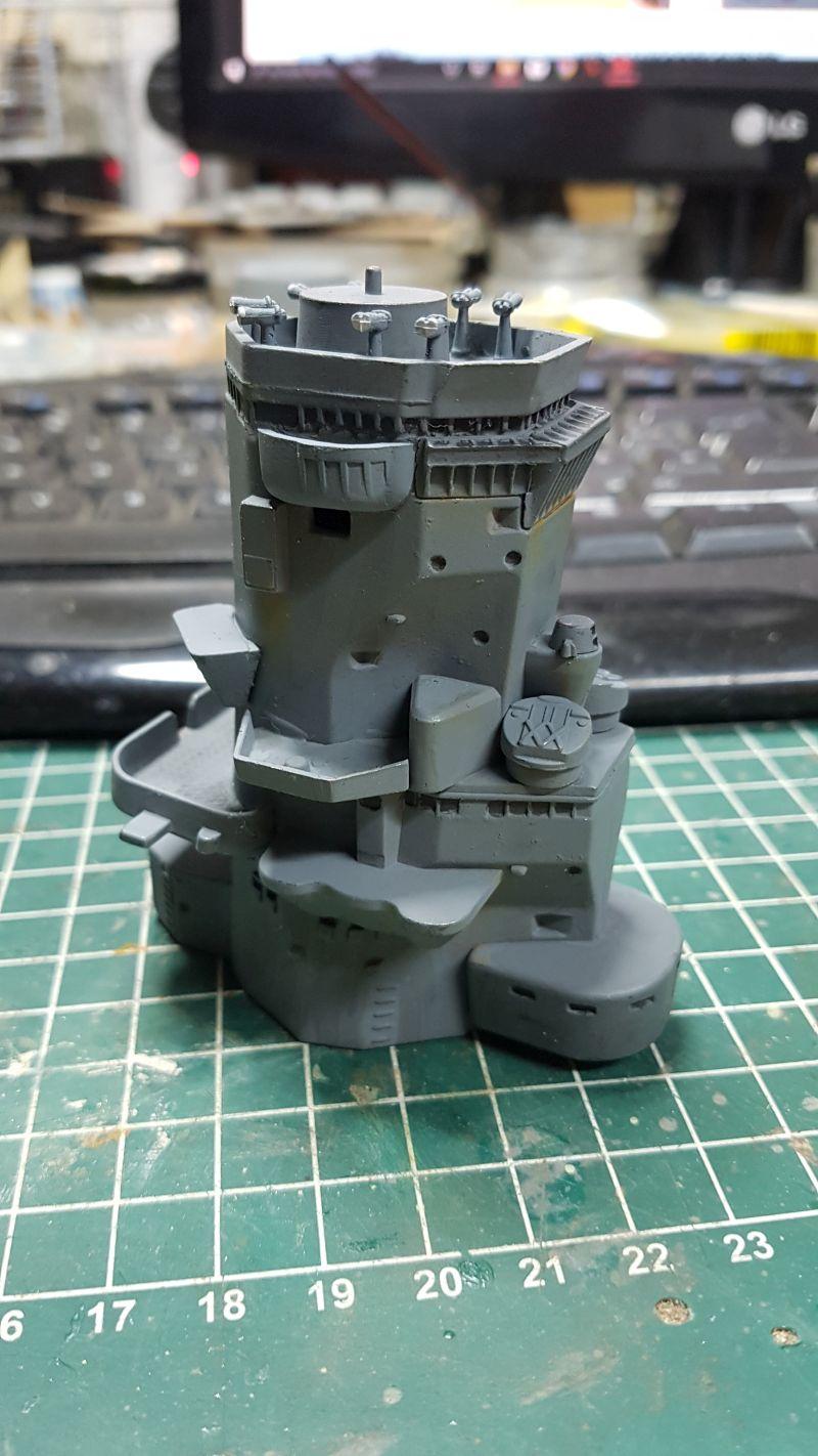 Baubericht JPN Schlachtschiff YAMATO gebaut von arrowsmodell 007_8011