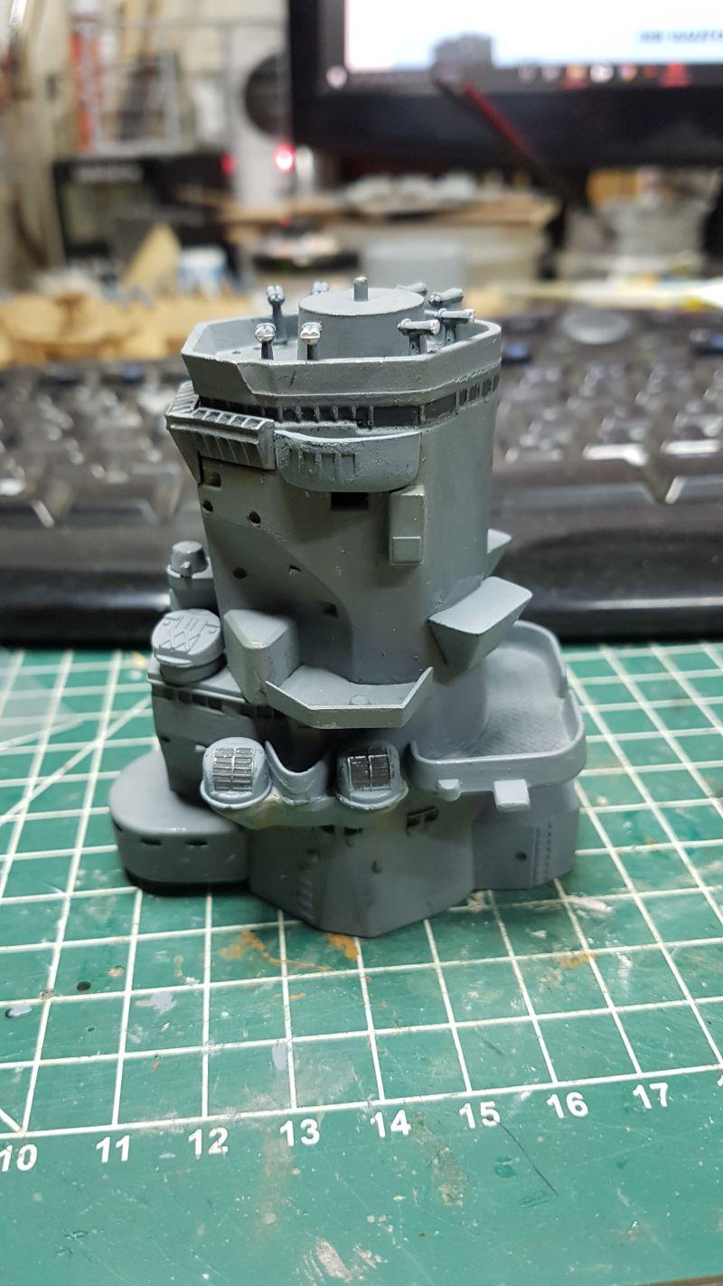 Baubericht JPN Schlachtschiff YAMATO gebaut von arrowsmodell 009_8011