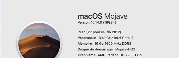 macOS Mojave 10.14.6 Finale version (18G84 ) 1014610