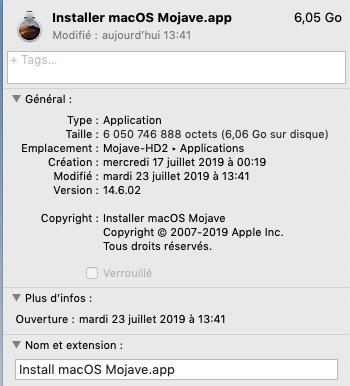 macOS Mojave 10.14.6 Finale version (18G84 ) 14060210