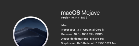 macOS Mojave Finale Release 10.14 (18A391) 18a39110