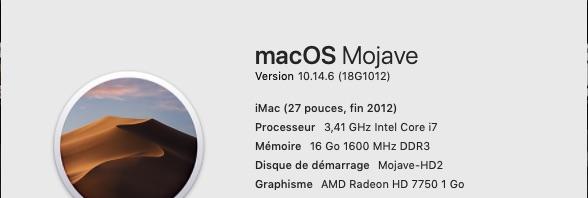 macOS Mojave 10.14.6 Mise a jour de sécurité 2019 (18G1012) 18g10110