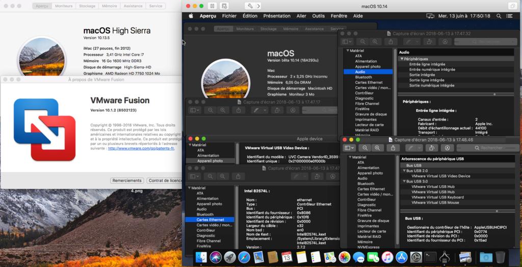 Script pour créer un iso macOS High Sierra 10.13  pour VMware Fusion10
