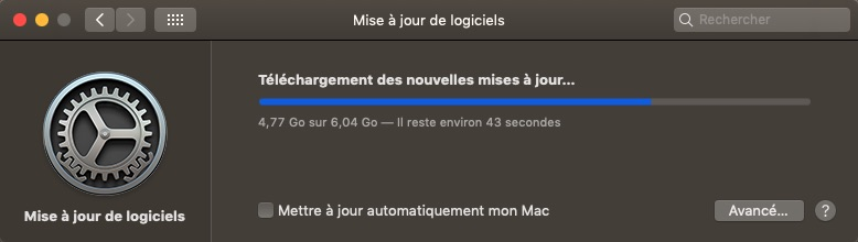 macOS Mojave 10.14.6 Finale version (18G84 ) Mise_a10