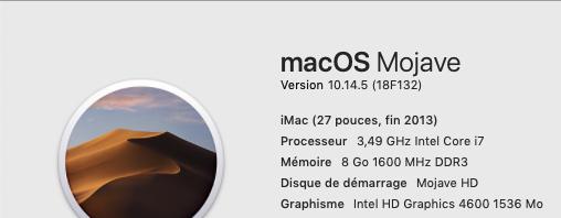 macOS Mojave 10.14.5 Finale version  (18F132 ) Mojave16