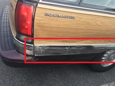 Passenger rear chrome trim, the big piece. Booty_10