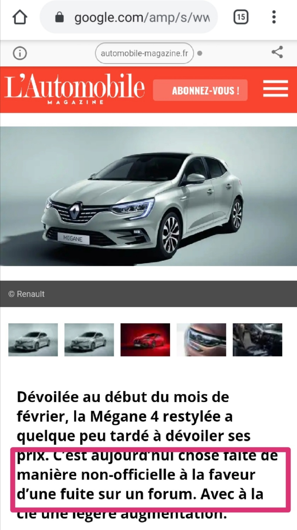 2019 - [Renault] Megane IV restylée  - Page 25 Screen25