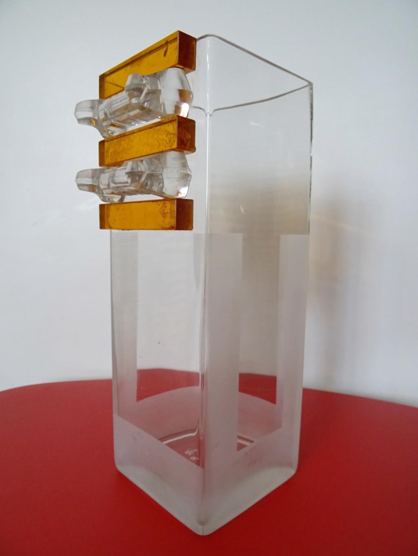 Vase en Verre Art Déco signé A.RIECKE - 1937 Dsc09612